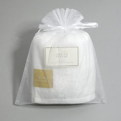 無撚糸(むねんし)高級Bath Towel Star White(純白のやすらぎ) オーガンジー巾着入り