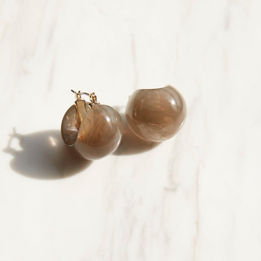 nim-16 Pierced earring / Gray