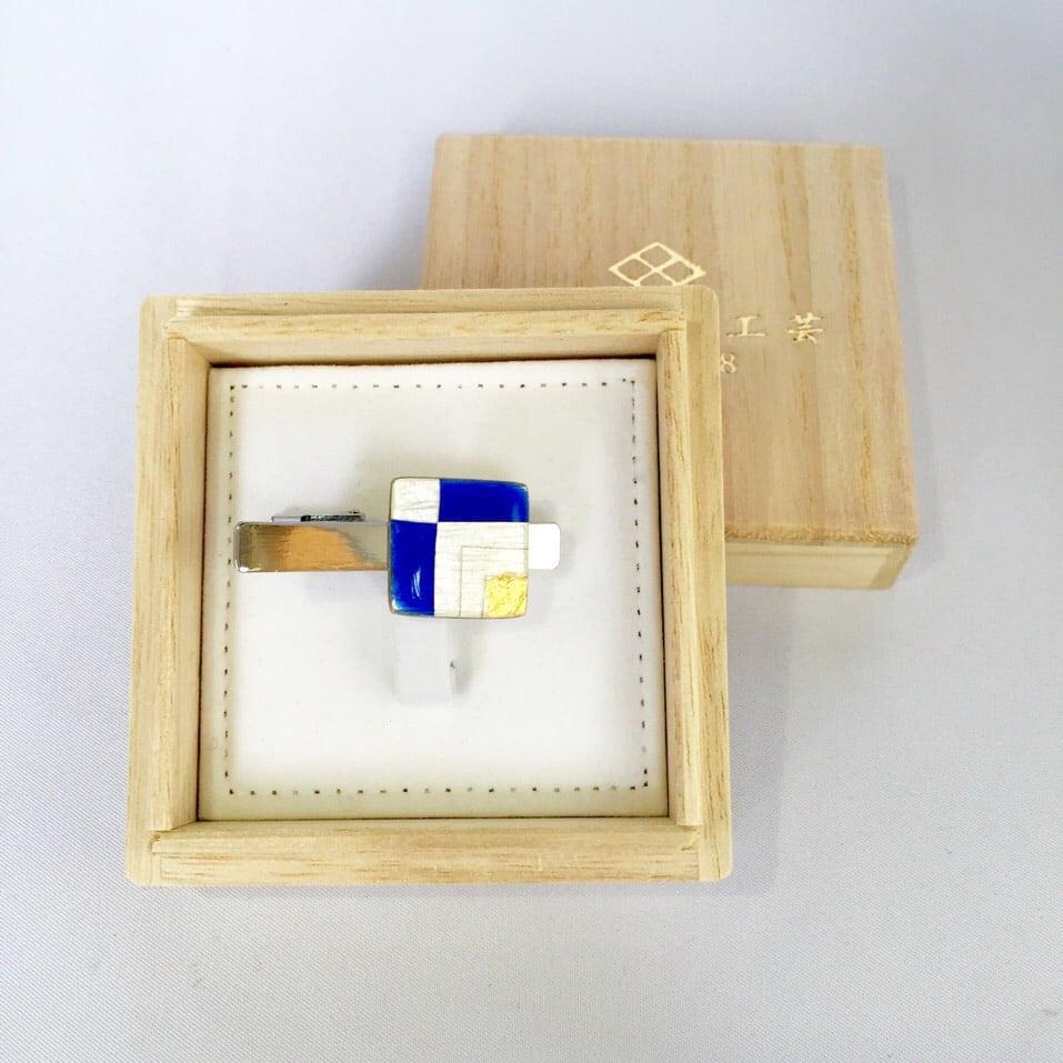 純銀素地:七宝ネクタイピン 四代目タケマサ作
