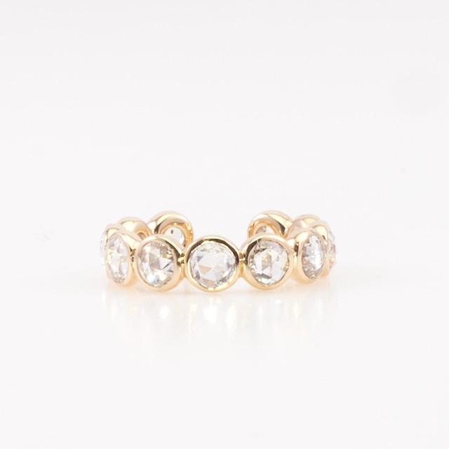 Round rosecut diamond ear cuff / Shine
