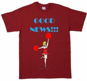 「GOOD NEWS!!! T-shirt 」カーディナルレッド