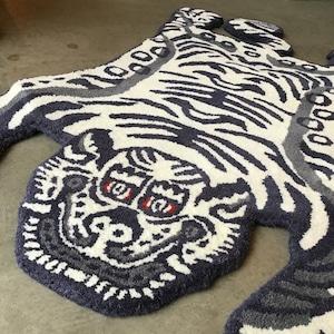 "Tibetan Tiger Rug ""White / Small"""
