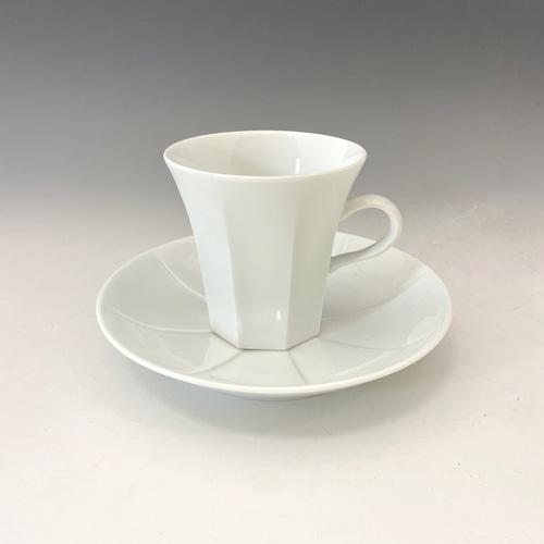 【中尾純】白磁珈琲碗皿(縦)