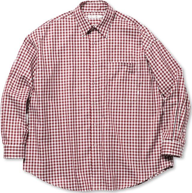 ROTOL / BASIC SHIRT - GINGHAM(RED)
