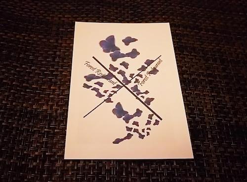 india butterfly オリジナルポストカード