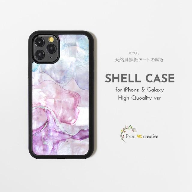 【iPhone13対応】天然貝シェル★マーブル・スウィート(iPhone/Galaxyハイクオリティケース)|螺鈿アート|GalaxyS21 iPhoneSE第二世代