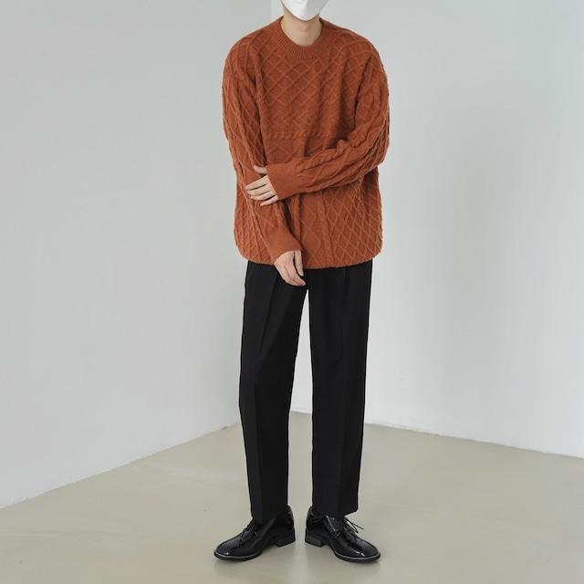 Twisted round neck sweater   b-482