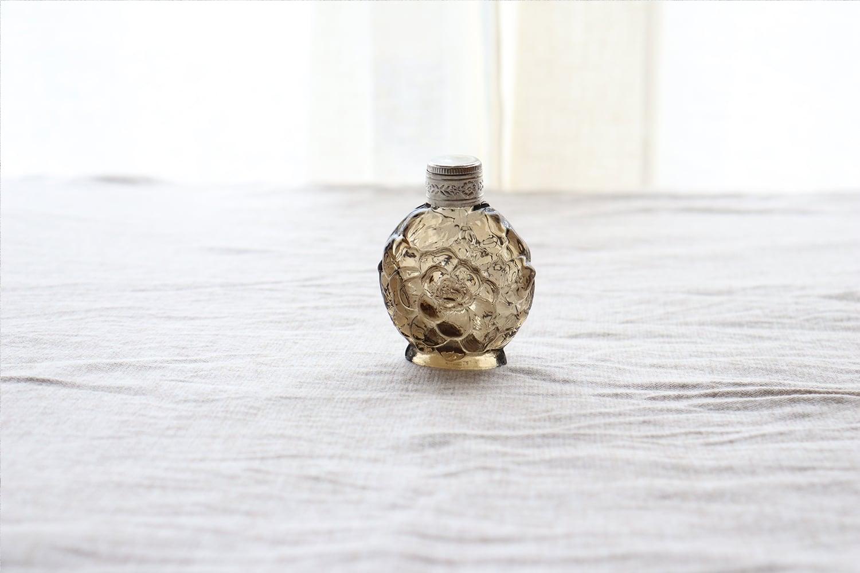 【チェコスロバキア】香水瓶 /ライトブラウン
