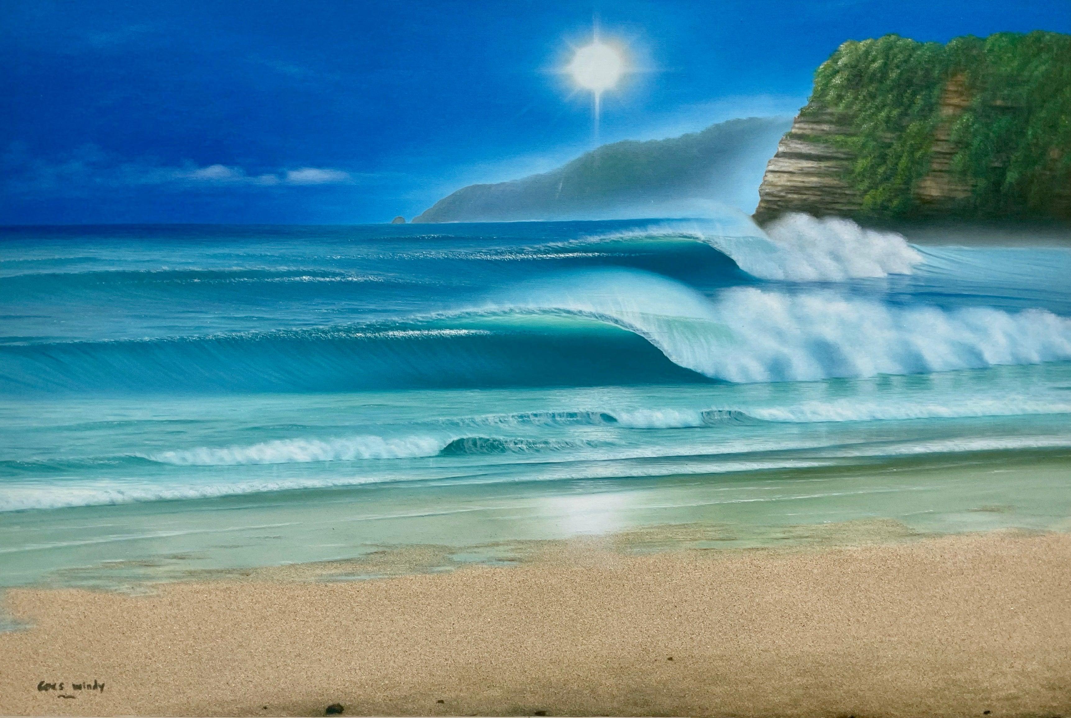 Dreamland Wave Art P80 特注サイズ with Real sand