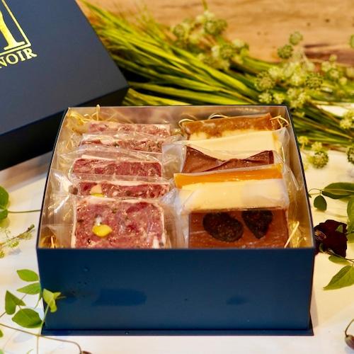 チーズケーキとジビエのテリーヌのアソートセット(計11枚)