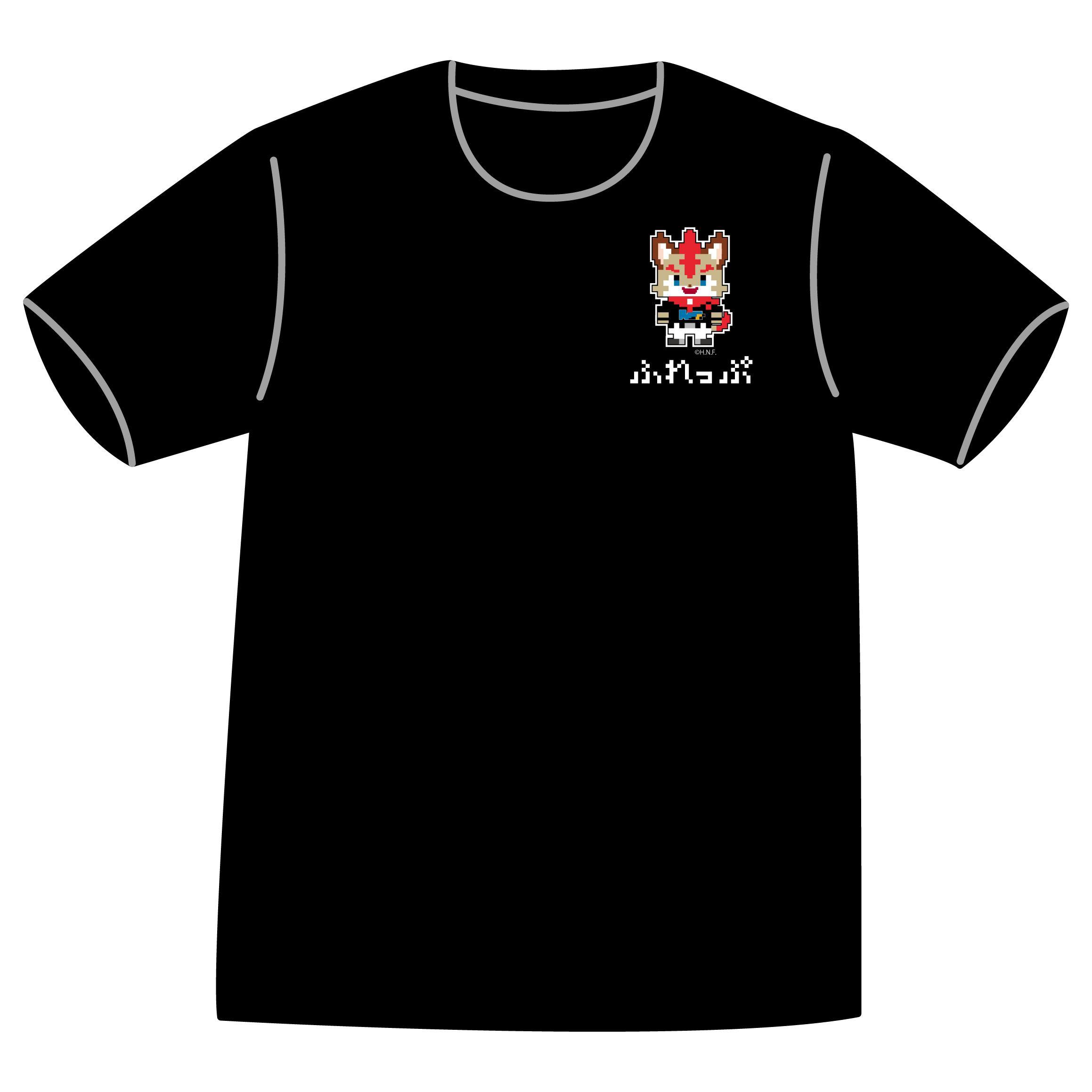 ドットファイターズ 「 ふれっぷ 」 Tシャツ ブラック