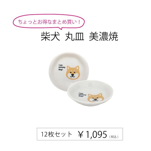 柴犬 丸皿 美濃焼 12枚セット【513096/e9125】
