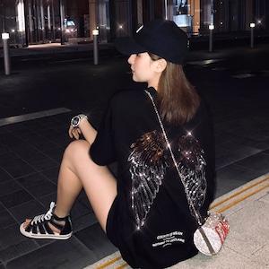 【トップス】韓国系半袖ラウンドネックプルオーバーTシャツ47079703