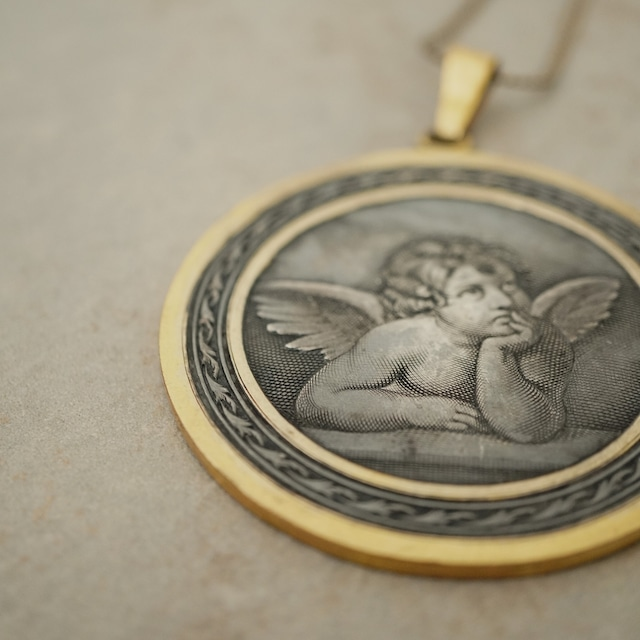 【FRENCH ANTIQUE】ANGEL PLATE NECKLACE