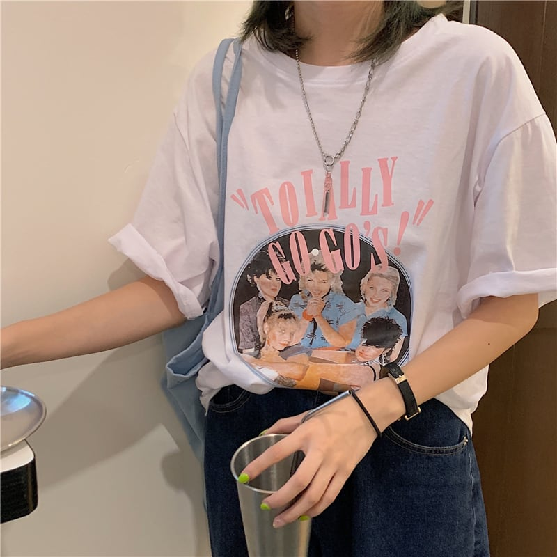 レトログラフィックTシャツ YH8666