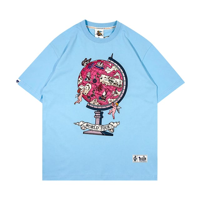 【GRAF】World Tour地球儀×エンジェルプリントTシャツ