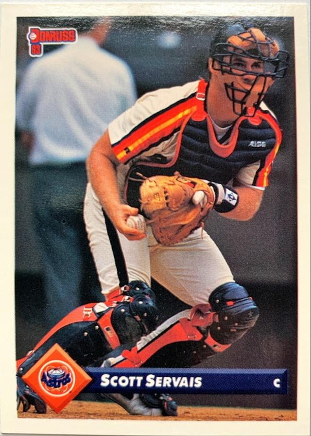 MLBカード 93DONRUSS Scott Servais #108 ASTROS