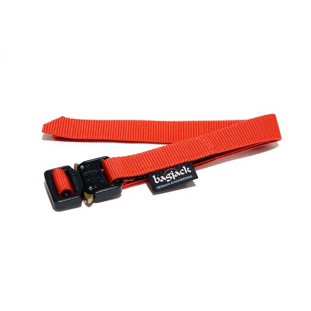 【bagjack】 cobra 25mm belt RED×BLK