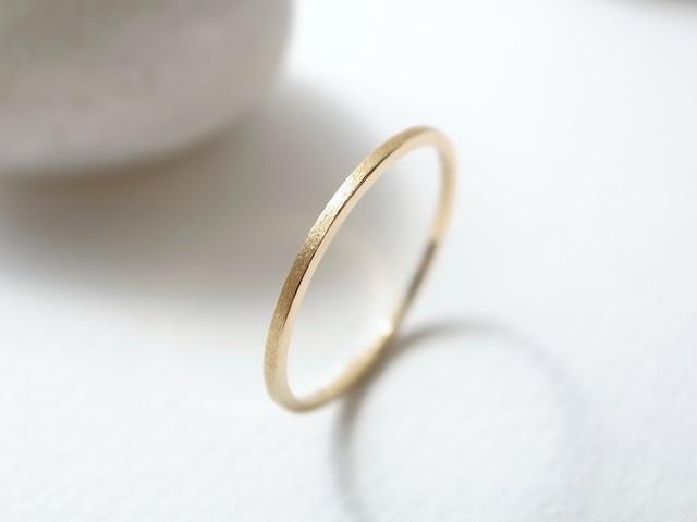 K18YG/thin ring
