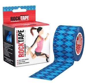 ロックテープ-スタンダード-アーガイルブルー / ROCKTAPE 5cm*5m standard Argyle blue