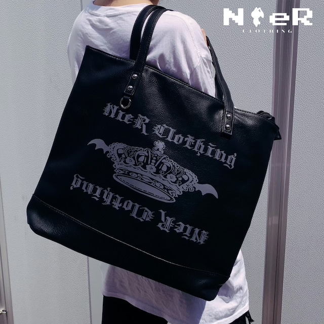 BLACK TOTE BAG【CROWN】