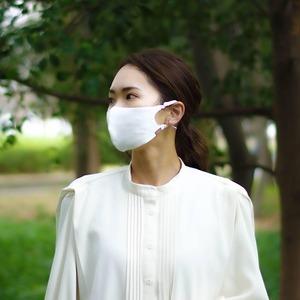 3層シルクマスク ギャザータイプ /カラー:ホワイト【bionatural】