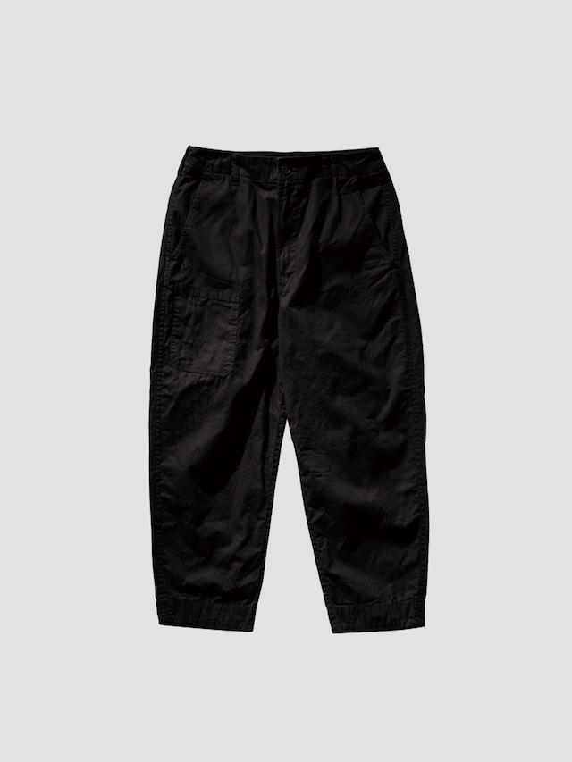 PORTER CLASSIC PARAFFIN CORDUROY PANTS BLACK PC-057-1723