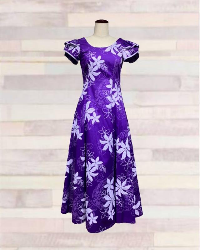 240677 / ドレス / ハワイアンプリント/パープル
