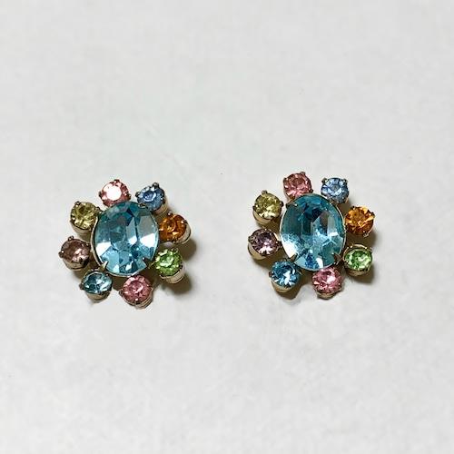 Vintage Multi Color Bijoux Earrings ③