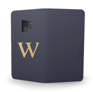 Galaxy Premium Smooth Leather Case (Midnight Blue) : Book Cover