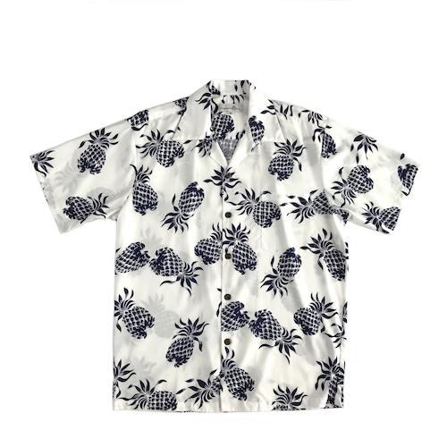 Pineapple juice オープンアロハシャツ / Pineapple White