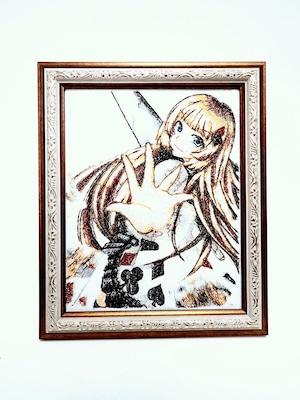 キャラ縫い額装刺繍 王女シャッフル「マシンガンシャッフル」