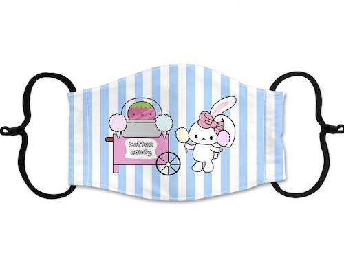 Bunny's Cafe Face Mask (Ketchupgiri Youtuber Cotton Candy)