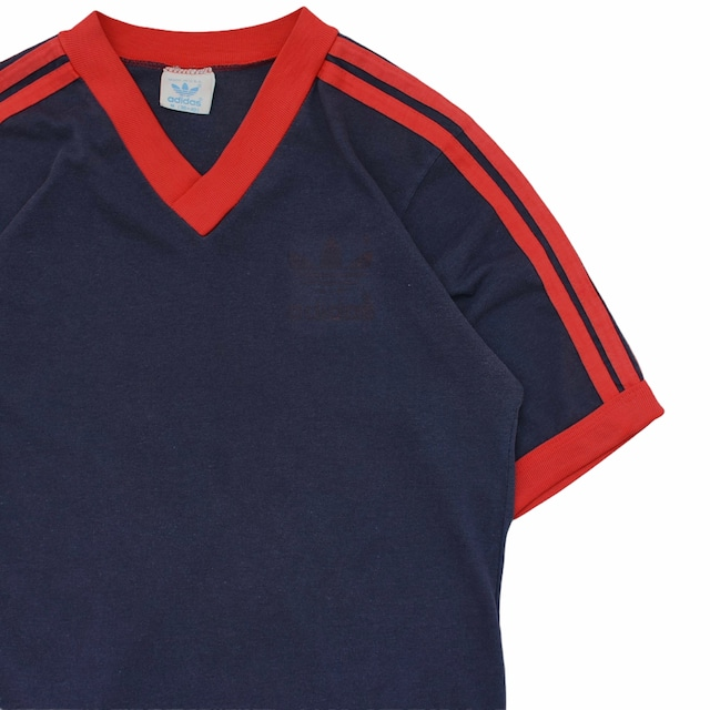 80s adidas 3stripes long T-shirt Made in USA