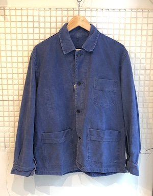 French Cotton Canvas Work Chore Jacket 1970S