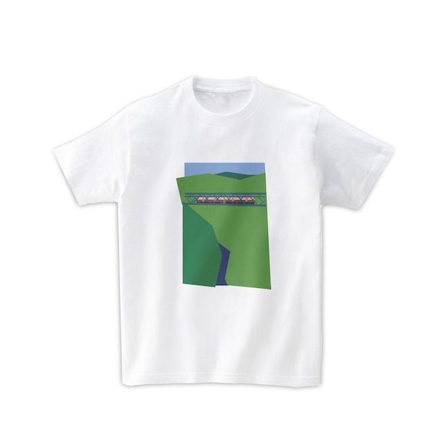 電車Tシャツ-箱根の山
