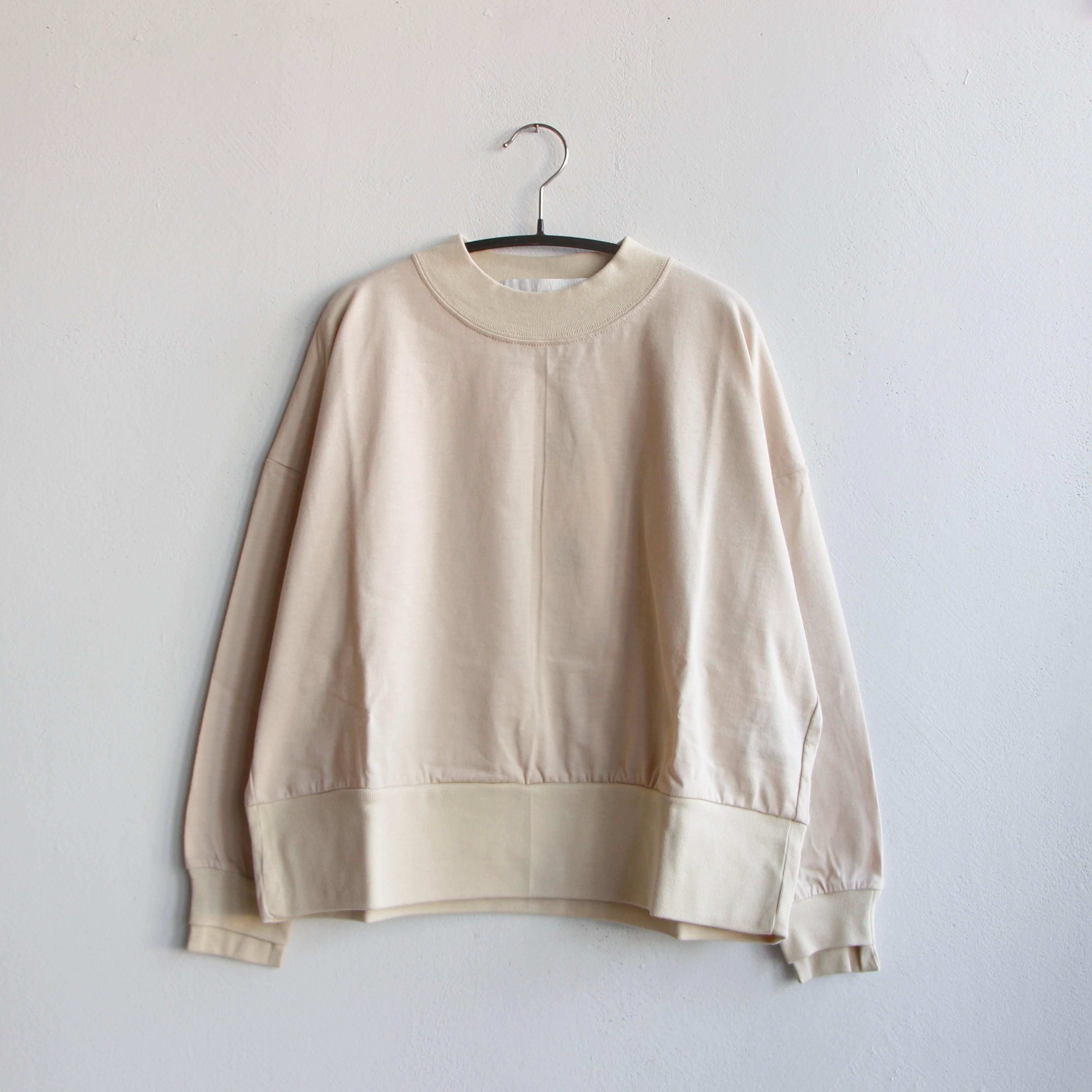 《UNIONINI 2021AW》reflect logo long sleeved tee / light beige / 2-12Y