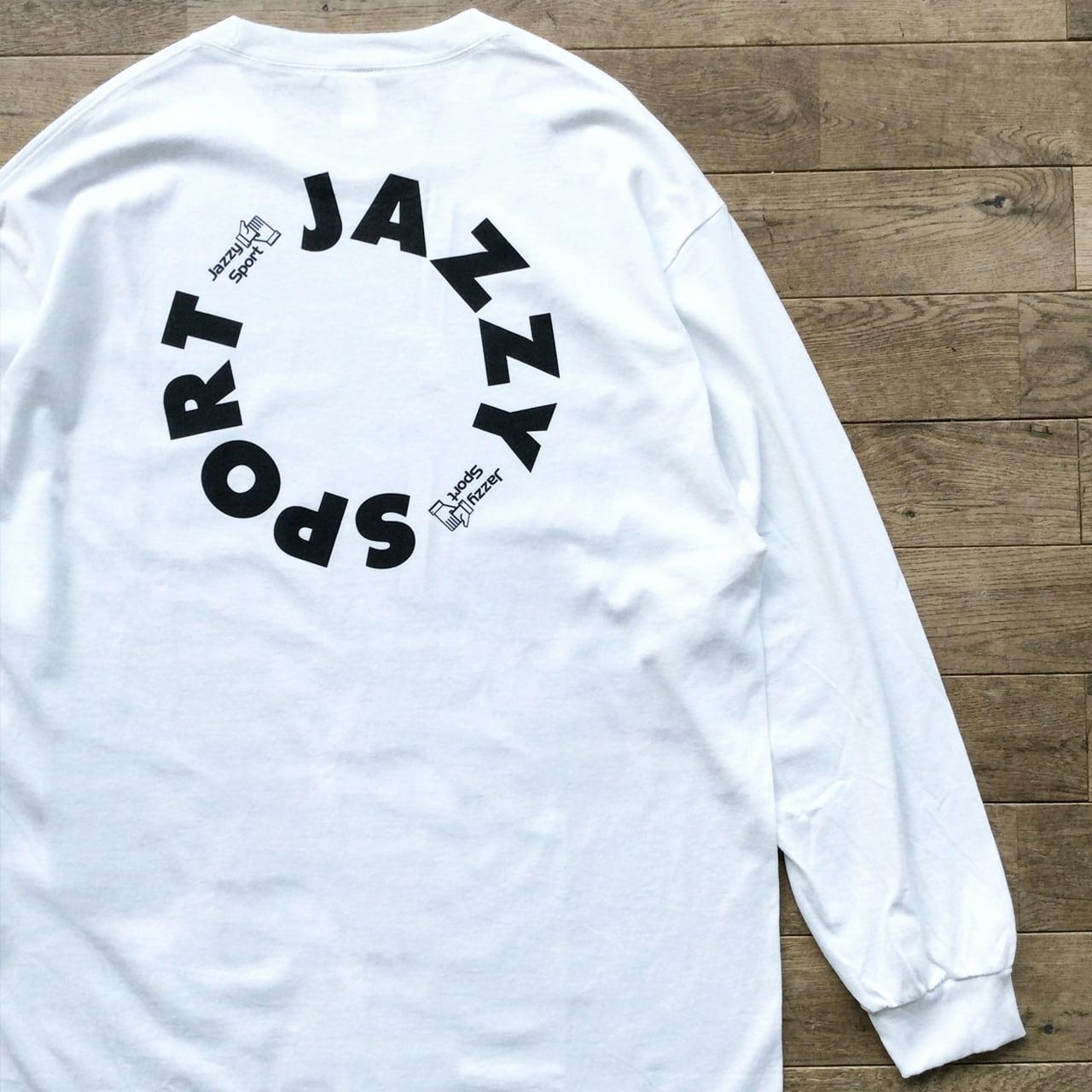 """【残りわずか】JS """"Circle"""" ロゴ ロングスリーブ Tシャツ/ホワイト"""