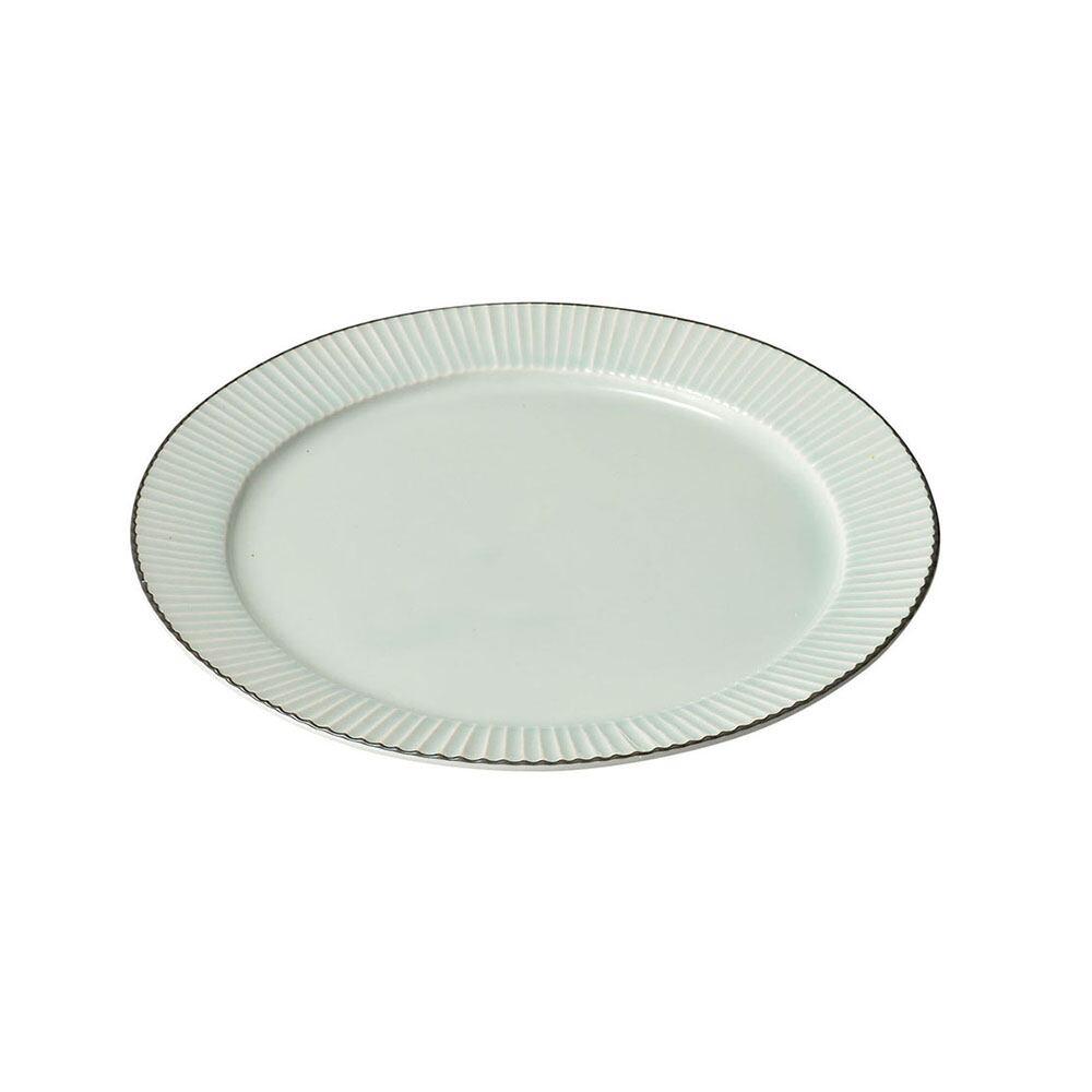 aito製作所 「ティント Tint」プレート 皿 L 約24cm ライトブルー 美濃焼 289002