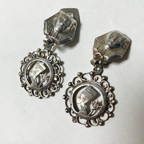 Vintage 600Silver Dangle Earrings made In Egypt