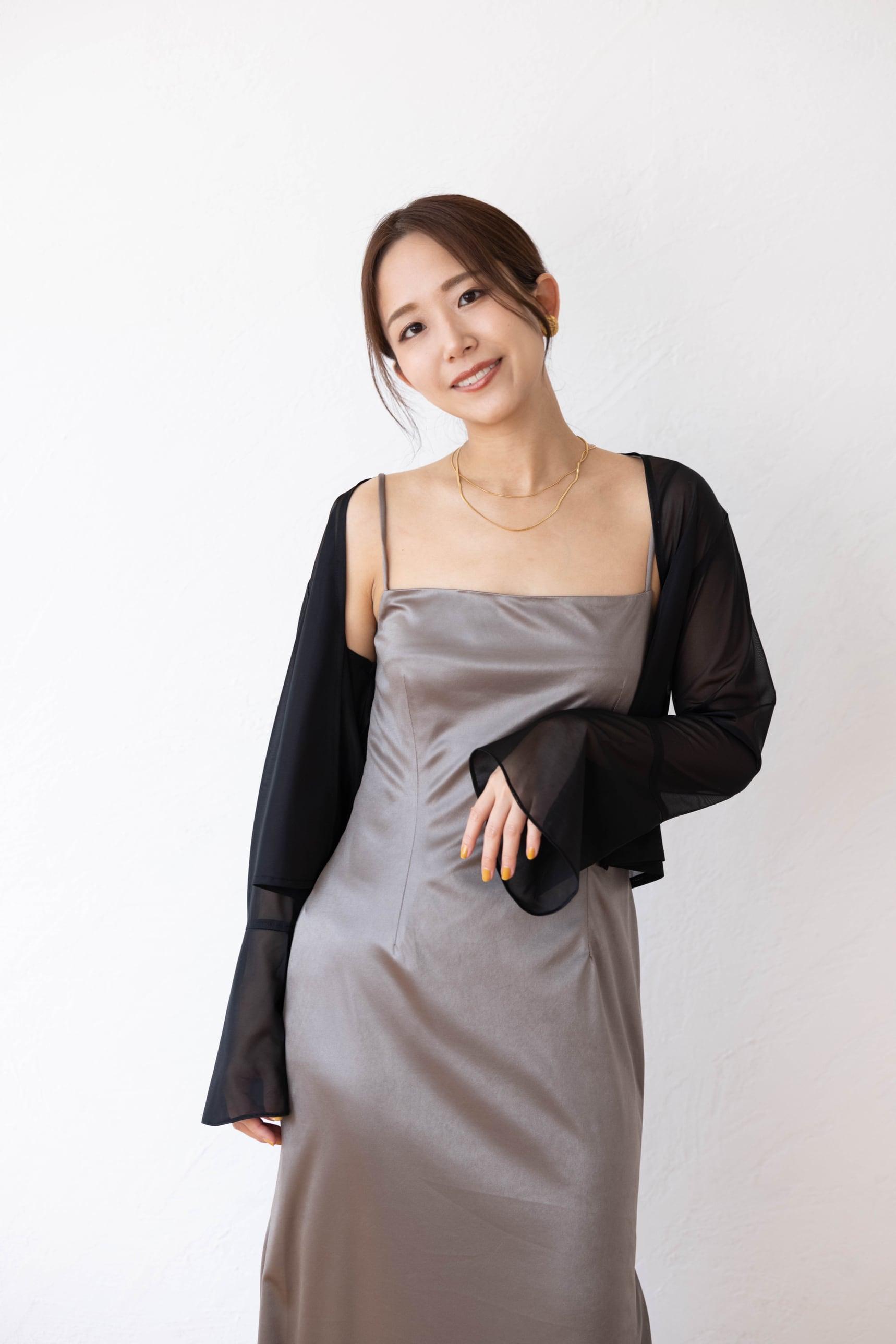 flare sleeve formal cardigan