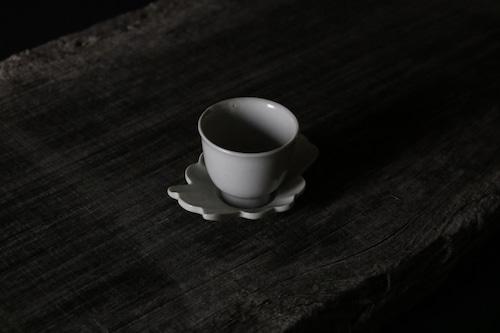 豊増 一雄 白瓷蟹茶托