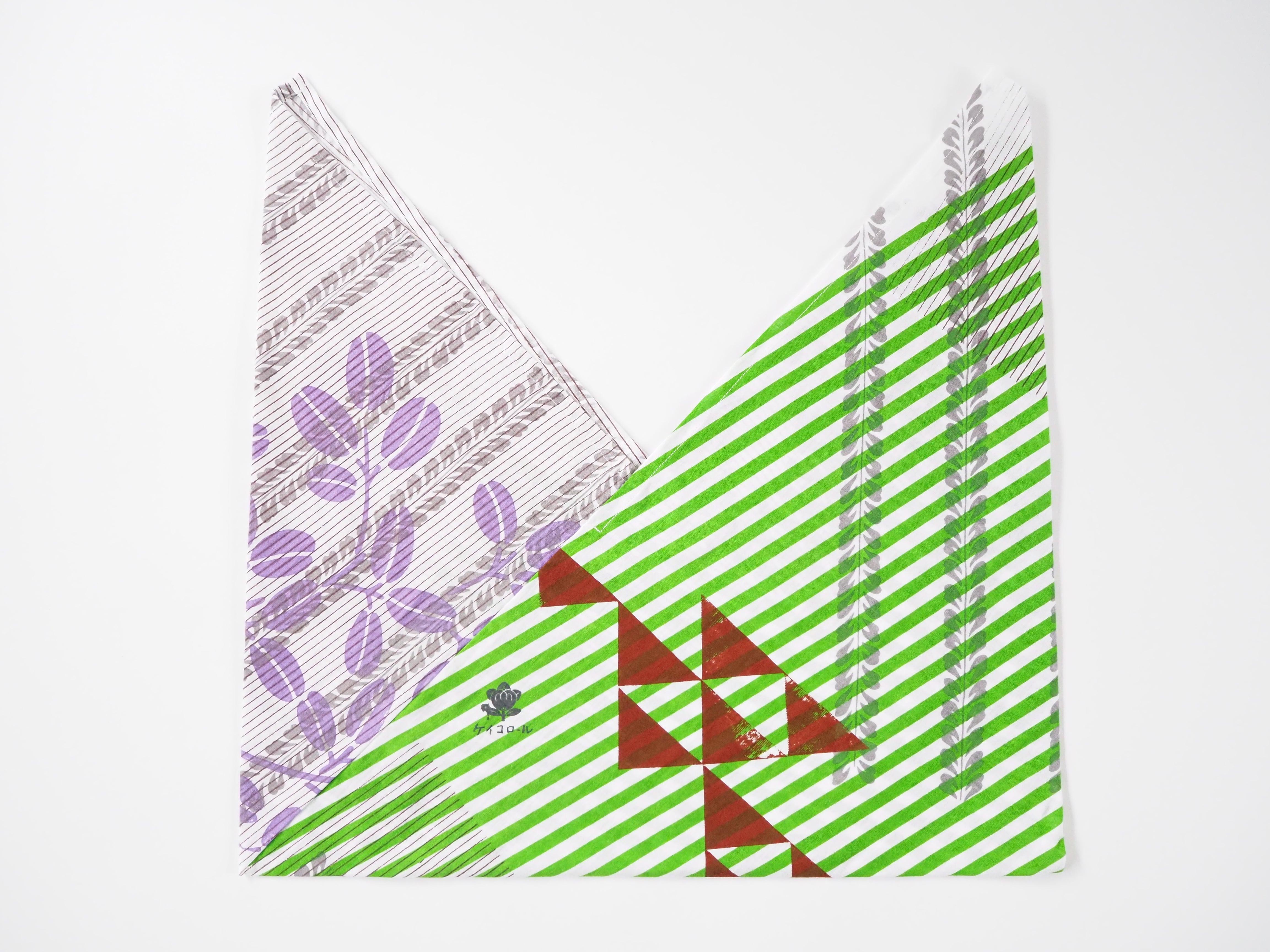 ケイコロール  あずま袋 「縞とフジ縞と萩とウロコ」