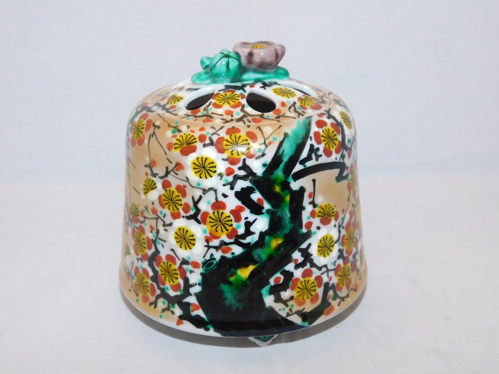 九谷香炉 Kutani porcelain incense burner