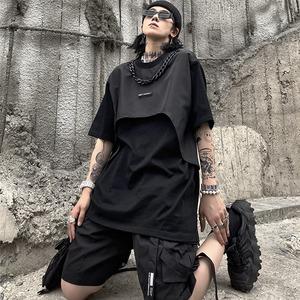 【トップス】男女兼用半袖個性的無地ストリート系Tシャツ48957128