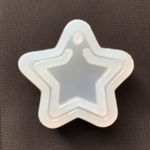 ペンダントトップ★シリコンモールド・シェイカーモールド★星 スター