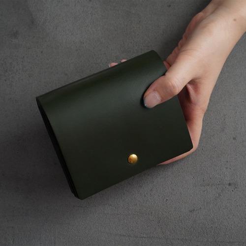 Flap middle wallet