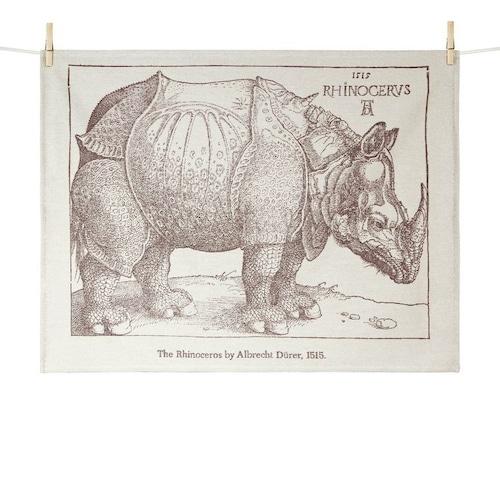 ティータオル 犀(サイ) Tissage Moutet/Albrecht Dürer(アルブレヒト・デューラー)