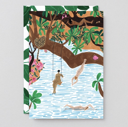 WRAP / JUNGLE BEACH ART CARD -Artwork by  Isabelle Feliu- アートカード