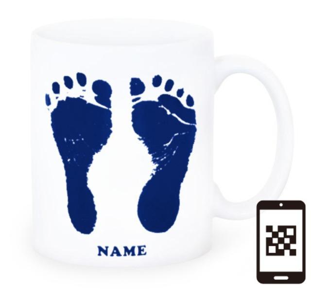 ai mug-white   A-type (NAVY) QRコード付き